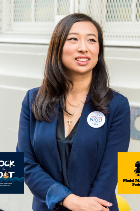 Assemblymember Yuh-Line Niou (with Rock the Boat)